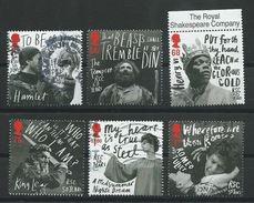 GROSSBRITANNIEN GRANDE BRETAGNE GB 2011 Royal Shakespeare Company  Set Of 6v SG 3173-78 SC 2894-99 MI 3085-90 YV 3481-86