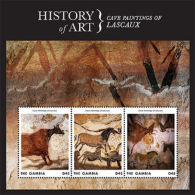 Gambia - History Of Art Cave Paintings Of Lascaux 2013 Sc 3499 SLIGHTLY WORN