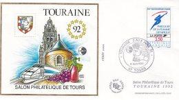L4R246 FRANCE 1992 FDC CNEP Touraine 2-5 04 1992 Tours /env.  Illus.