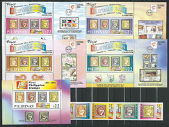 Philippines 2004 National Stamp Exhibition FILIPINAS 2005.The 150th Ann.of The First Philippine Stamp.5 S/S And StampMNH - Philippines