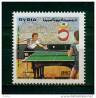 SYRIA / 1992 / SPORT / HANDICAPS / MENTAL DISABILITY / PARALYMPIC GAMES / MADRID 92 / TABLE TENNIS / BING BONG / MNH