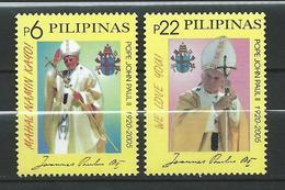 Philippines 2005 Tribute To Pope John Paul II, 1920-2005.MNH - Filippijnen