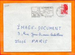 GARD, St Ambroix, Flamme SCOTEM N° 5727R, En Languedoc - Marcophilie (Lettres)