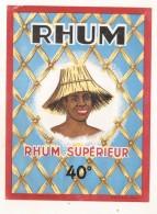 étiquette -  1940/60 étiquette Grand Format Rhum - - Whisky
