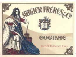 étiquette -1920/40  COGNAC AUGIER Frères  - 19cm X14cm  étiquette Maxi Pour Grand Contenant - Whisky