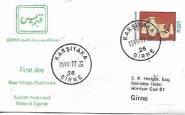CYPRUS  KARSIYAKA Poterie Chypriote  15/08/77