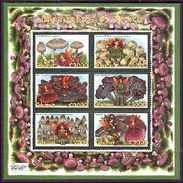 GHANA  2179 ; MINT NEVER HINGED MINI SHEET OF MUSHROOMS - Mushrooms