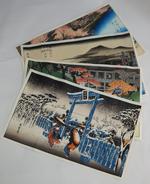 "Washi  :   "" The 4 Seasons ""    ( Hiroshige ) - Prints & Engravings"
