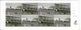 Faroe Islands MNH 2015 Booklet Pane Of 8 Vagar Airport