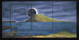 Faroe Islands MNH 2015 Souvenir Sheet Of 2 Total Solar Eclipse