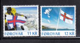 Faroe Islands MNH 2015 Set Of 2 Faronese Flag 75th Anniversary