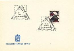 "L3287 - Czechoslovakia (1982) Usti Nad Labem 1: Regional Stamp Exhibition (castle ""Strekov"")"