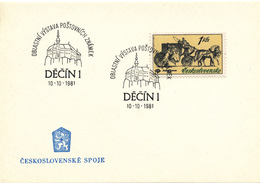 L3288 - Czechoslovakia (1981) Decin 1: Regional Stamp Exhibition (castle)