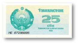 UZBEKISTAN - 25 SUM - 1992 ( 1993 ) - Pick 65 - UNC. - Serie ME - 2 Scans - Uzbekistan