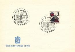L3297 - Czechoslovakia (1981) MoravskeBudejovice: 750 Years City (coat Of Arms)