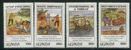 Uganda 1994 Environment 4v, (Mint NH), Nature - Environment - Fishing - Elephants