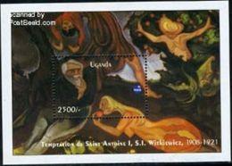 Uganda 1993 Polska 93 S/s, (Mint NH), Art - Paintings - Stamps - Philately