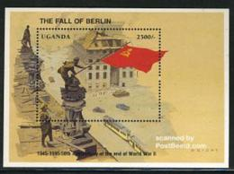 Uganda 1995 Fall Of Berlin S/s, (Mint NH), History - Militarism - Flags - World War II