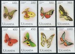 Uganda 1994 Butterflies 8v, (Mint NH), Nature - Butterflies