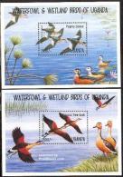 Uganda 1995 Birds 2 S/s, (Mint NH), Nature - Ducks - Birds