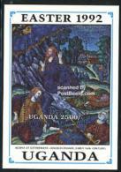 Uganda 1992 Easter S/s, On Olive Mountain, (Mint NH), Art - Paintings - Religion