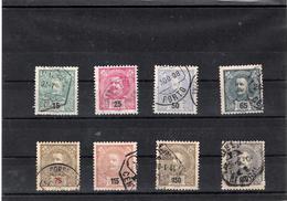PORTUGAL USED STAMPS 1898 #AFINSA 140/147 - Oblitérés