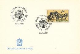 L3301 - Czechoslovakia (1981) Ostrov Nad Ohri 1: 650 Years City