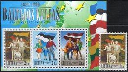 Lithuania. Lituania. Litauen. 1999. Tenth Anniversary Of The Baltic Chain. MNH**