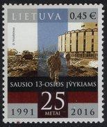 Lithuania. Lituania. Litauen. 2016.  25th Anniversary Of Tragic Events Of 13th January. MNH**