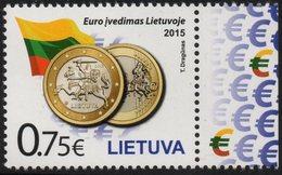 Lithuania. Lituania. Litauen. 2015.  The Euro Introduction In Lithuania. MNH**