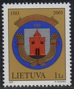 Lithuania. Lituania. Litauen. 2003.  500th Anniversary Of Panevezhis. Coat Of Arms.  MNH**