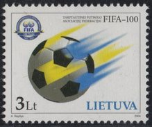 Lithuania. Lituania. Litauen. 2004.  100th Anniversary Of FIFA.  MNH**