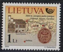 Lithuania. Lituania. Litauen. 2003.  From The Post History.  Post Office Of Kaunas.  MNH**