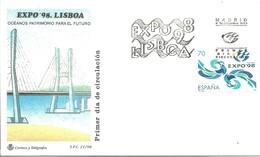 FDC ESPAÑA   EXPO 98 LISBOA - Exposiciónes Universales