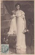 FANTAISIE----S. KENDRICK  PINX--photogravure--jeune Femme + Petite Fille--voir 2 Scans - Femmes