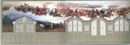 3492 Hungary Prepaid Postcard Art Painting Military Hussars Horse Strip Of 3 Postcards Unused - Paintings