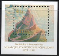 Lithuania. Lituania. Litauen. 2000. Picture Of N.K.Ciurlionis. 125th Birth Anniversary Of N.K.Chiurlion.  MNH**