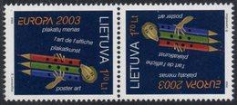 Lithuania. Lituania. Litauen. 2003. Europa. Poster Art. тет Beches. MNH**