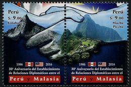 Peru (2016) - Set -  /  World Heritage - Machu Pichu -  Malaysia Diplomatic Relations - Mountains - Kinabalu