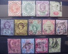 INGLATERRA - IVERT Nº 91/103 - USADOS (Y021) - 1840-1901 (Viktoria)