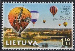 Lithuania. Lituania. Litauen. 2003. European Hot Air Balloon Championships. Flying Ballons.  MNH**