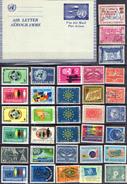 NATIONS-UNIES - ONU ! AEROGRAMME Et Timbres Anciens Depuis 1950 ! Nombreux NEUFS**et*