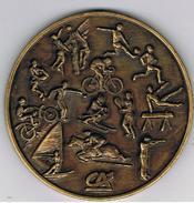 Banque   Crédit  Agricole   Grosse Médaille  Omni_sports   Métal  70 Mm  X  5 Mm - Unclassified