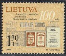 Lithuania. Lituania. Litauen. 2004. Lithuanian Printing In Latin Characters.  MNH**