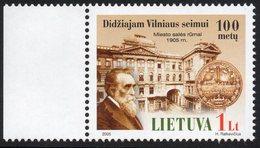 Lithuania. Lituania. Litauen. 2005. Centenary Of The Great Seimas Of Vilnius. Basanavicius. MNH**