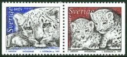 SWEDEN 1997 PANTHER AND CUBS PAIR** (MNH)