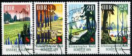 DDR - Michel 1462 / 1465 - OO Gestempelt (A) - Waldschutz