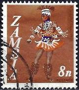 Zambia 1968 - Folk Dance : Vimbuza Dancer ( Mi 43 - YT 43 ) - Zambie (1965-...)