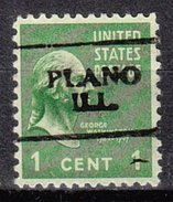 USA Precancel Vorausentwertung Preos Locals Illinois, Plano 701