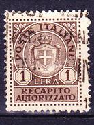 Italien Italy Italie - Gebührenmarke Recapito (MiNr: 2) 1930 - Gest Used Obl